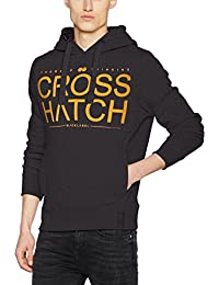 Crosshatch Sevcon Ch Hoody Ribbed Panels, Sweat-Shirt à Capuche Homme