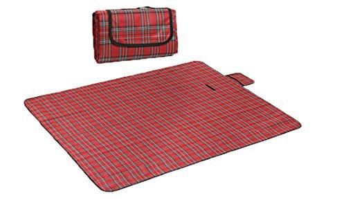 Honeystore 180 * 150 Polyesterfaser Yoga Matte Strand Ausflug Picknickdecke mit Wasserabweisender Unterseite Rot