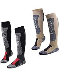 Fitself 1 Par/2 Pares Calcetines de Esqui Hombre Mujer Thermolite Snowboard Ciclismo Alto Rendimiento Termicos…