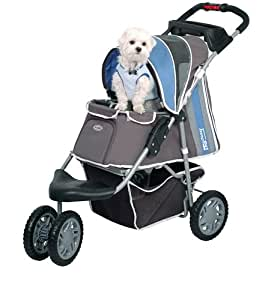 Pet Stroller Ips 09 Blue Dog Carrier Trolley Trailer