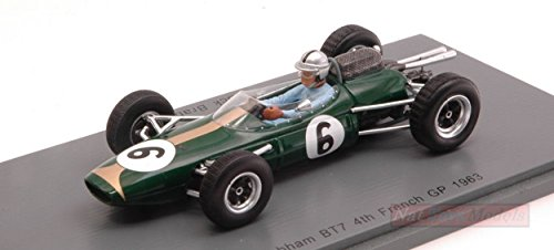 SPARK MODEL S5249 BRABHAM BT7 JACK BRABHAM 1963 N.6 4th FRENCH GP 1:43 DIE CAST -