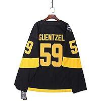 Guentzel # 59 pingüino Jersey de Hockey sobre Hielo de Manga Larga Suelta Talla Grande Camiseta de Hockey sobre Hielo Ropa Deportiva Equipo de competición Uniforme Real Jersey XL