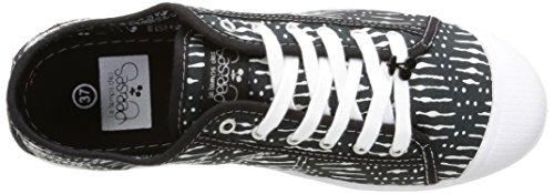 Le Temps des Cerises  Ltc Basic 02,  Damen Sneaker Schwarz - Noir (Gao Black)