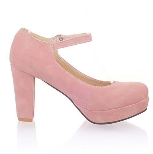 f510fed175a1a YE Damen Ankle Strap Pumps Geschlossene Blockabsatz High Heels ...