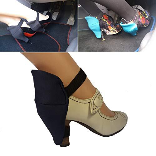 Keine abgenutzten Absätze mehr, wenn Sie in Ihren Schuhen fahren/Vermeiden Sie es, Ihre Absätze auf Ihrer matte zu reiben und Ihre Schuhe schön und wie neu aussehen zu lassen - blaues Paar