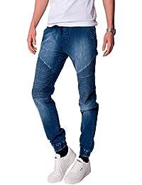 Mens Seven Series Murphys Elasticated Waist Skinny Jeans Cuffs Denim Trousers