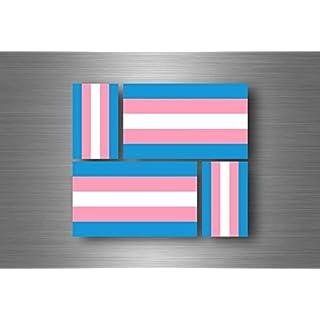Akacha 4x aufkleber sticker flagge flaggen transgender rainbow geschlechtsidentität