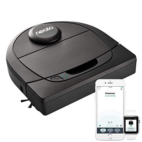 41Lx54yNzCL [Bon Plan Neato] Neato Robotics D602 Connected - Compatible avec Alexa - Robot aspirateur avec station de charge, Wi-Fi & App