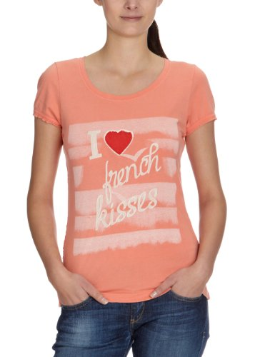 ONLY Damen T-Shirt, 15065417 CHARLIZE SS TOP Orange (FUSION CORAL)