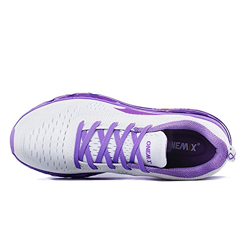 Onemix all'aperto Air Uomo Donna Scarpe da Ginnastica Corsa Sportive Running Sneakers Fitness Interior Casual all'Aperto Viola