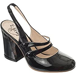 Dancing Days UNCHAINED Vintage SLINGBACK Lack Riemchen PUMPS Rockabilly