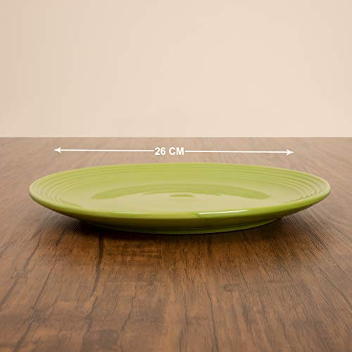 Home Centre Colour Connect Solid Dinner Plate - Green