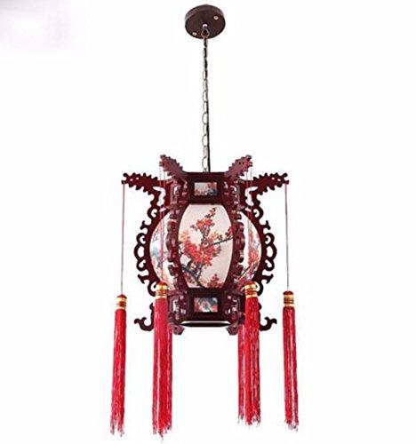 ZHGI Pergamena antico lampadario classico sala da pranzo accende la lanterna corridoio corridoio corridoio luci