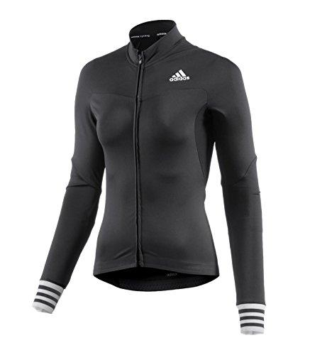 adidas Damen Adistar Cd.zero3 Langarm Radtrikot, Schwarz, XL (Kleidung Adidas)