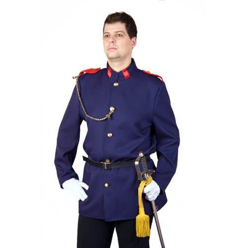 Sissi Kostüm Fasching - Uniformjacke, blau Größe