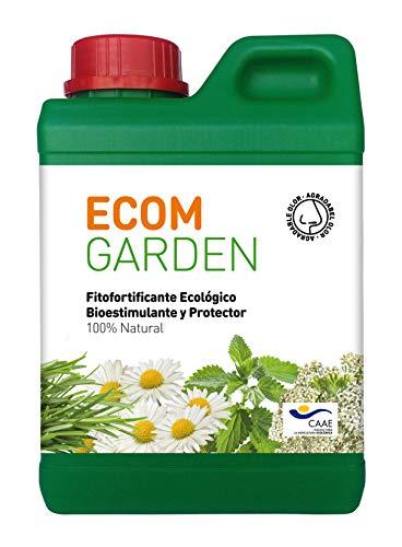 ECOM Garden Abono Bioestimulante Ecológico. 1 Litro Concentrado. Vigorizante Natural para Plantas...