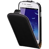 Hama Flip Case (für Samsung Galaxy S3 mini Tasche, maßgefertigte Schutzhülle mit Magnetverschluss) schwarz