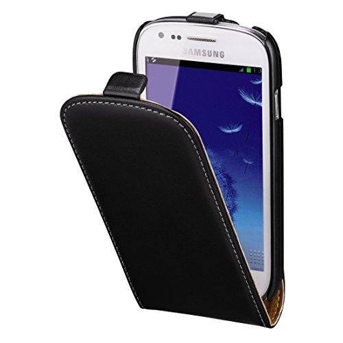 Hama Flip Case (für Samsung Galaxy S3 mini Tasche, maßgefertigte Schutzhülle mit Magnetverschluss) schwarz (Galaxy Case S3 Flip)