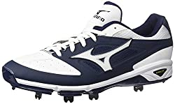Mizuno Mens Dominant IC Baseball Shoe, Navy White, 12.5 D US