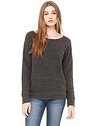 Bella + Canvas Womens Sponge Fleece Wide Neck Sweatshirt (7501) CHAR-BLACK TRIB
