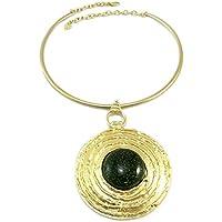 Dolce Vita [P6417] - Necklace creator 'Sissi' green gold - 11x8 cm (4.33''x3.15'').