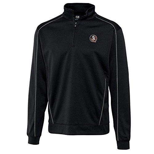 Cutter & Buck Herren CB Drytec Edge Half Zip, Herren, NCAA Men's Edge Half Zip Jacket, schwarz