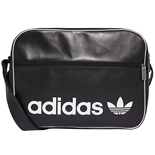adidas Unisex's Airliner Vintage Messenger Bag, Black, 12 x 29 x 39 cm