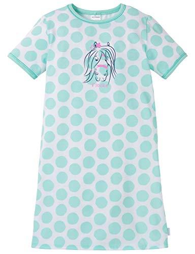 Schiesser Mädchen Ponyhof Nachhemd 1/2 Nachthemd Grün (Mint 708), Herstellergröße: 128
