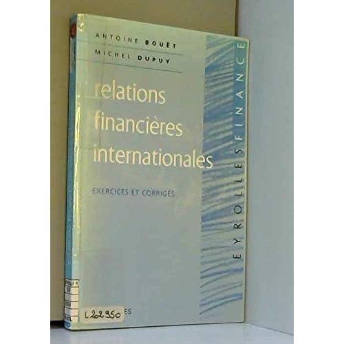 Relations financières internationales : Exercices et corrigés