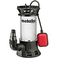 Metabo Schmutzwasser-Tauchpumpe PS 18000 SN | inkl. Winkelanschlussstück mit Mulitadapter, Schwimmschalter | 251800000