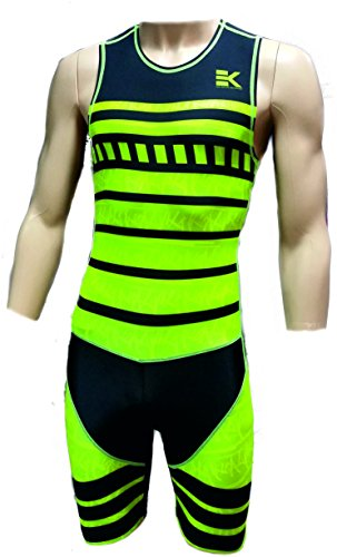 TRIATHLON HERREN KOMPRESSION TRI SUIT EKEKO, ärmellos mit RV und 2 offenen Taschen hinten, flache Nähte UV50+. Atmungsaktiv, es leitet den Schweiß gut ab. Zweite Hautanpassung. Mehlgrün/schwarz XL (Bike Shorts Swim Triathlon)