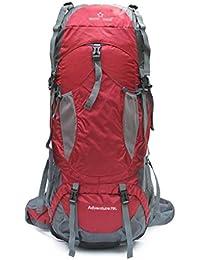 Mochila Alpinismo Bolso 70L Al aire libre Alpinismo Bolso Hombro Bolso Hombres Y Mujeres Salvaje Camping Backpacker Gran Capacidad De Caminar ( Color : Rojo )