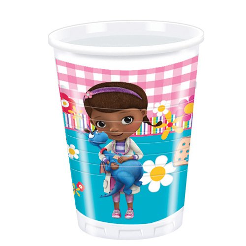 Amscan 200 ml Doc McStuffins Plastic Cups Party Accessory, Pack of 8