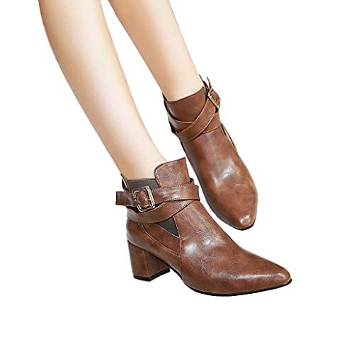 TianWlio Frauen Herbst Winter Stiefel Schuhe Stiefeletten Boots Seitlicher Reißverschluss Kurze Stiefel Keile High Heel Schuhe Stiefel Quaste Stiefeletten Braun 39