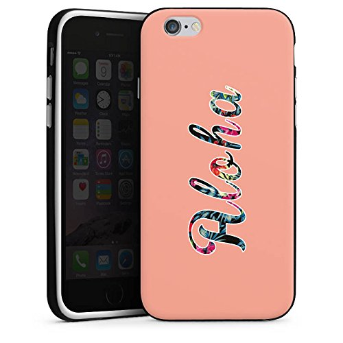 Apple iPhone X Silikon Hülle Case Schutzhülle Aloha Sommer Blumen Silikon Case schwarz / weiß