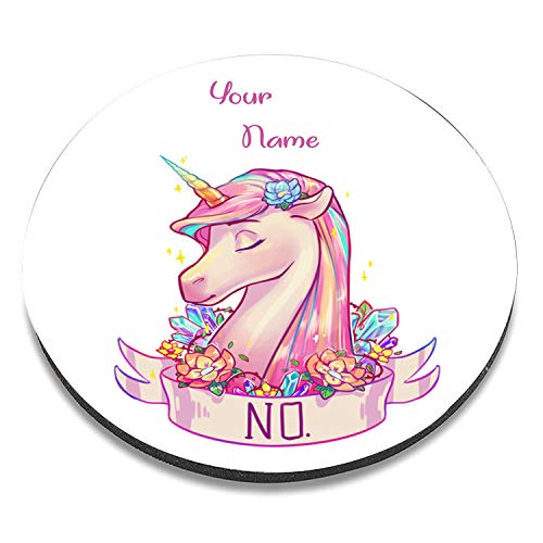 PERSONALISED NAME UNICORN DESIGN MOUSE MAT CREATE YOUR OWN , UNIQUE CUSTOM PRINTED DESIGN MOUSE PAD, WATERPROOF NON-SLIP RUBBER BASE MOUSEPAD GREAT FOR LAPTOP, COMPUTER & PC - UNICORN, CUTE FANCY DESIGN 0051 - Itronix Pc S