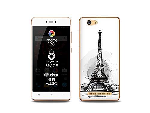 etuo Handyhülle für Allview X3 Soul Lite - Hülle, Silikon, Gummi Schutzhülle Fantastic Case - Eiffelturm