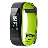 YAMAY Fitness Trackers,Colour Screen Fitness Watch Waterproof IP68 Fitness Tracker with Heart Rate Monitor Smart Watches Pedometer Activity Tracker for Kids Women Men Call SMS SNS Notification Push