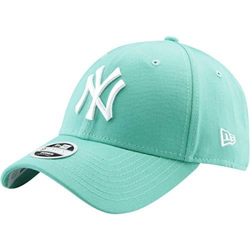 New Era 9Forty Unisex Damen Herren MLB League Essential/Brand Logo 940 Adjustable Cap Strapback Cap Baseball Cap mit 7kmh Aufkleber Weiß