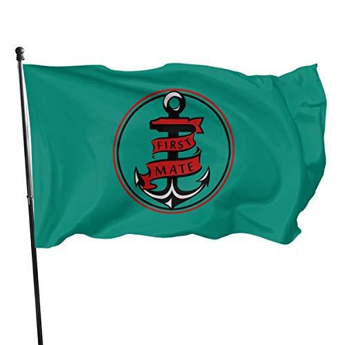 Squirm Factory Amerikanische Fliege Brise 3 x 5 Fuß Flagge - Captain First Mate Paare Segeln Seeseil D & Atilde; COR Bundle -