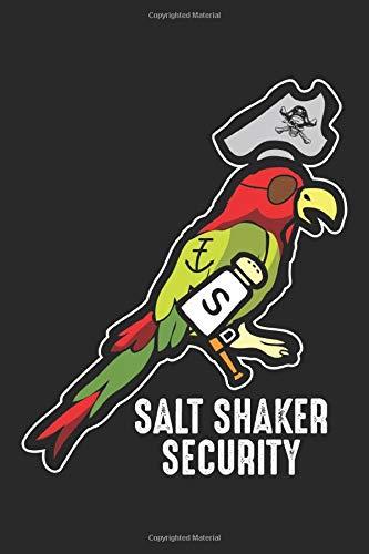 Salt Shaker Security: Piratenkopf Papagei Lustig Notizbuch gepunktet DIN A5 - 120 Seiten für Notizen, Zeichnungen, Formeln   Organizer Schreibheft Planer Tagebuch