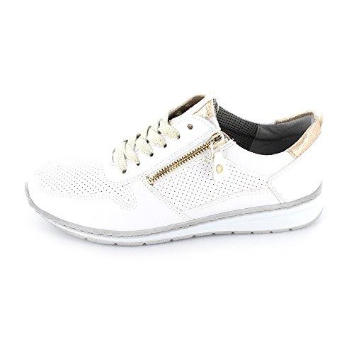 Jenny Damen Sapporo Sneaker weiss/platin Weite H
