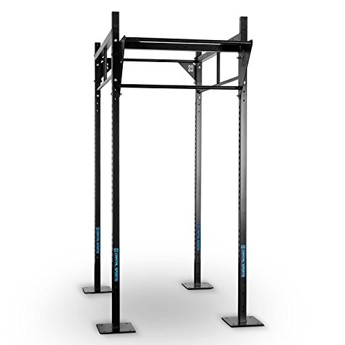 Capital Sports Rack Fitness Rack Power-Rack Basis-Set A CF Box Squat Rack Heim- und Studioinstallation (4x J-Hooks, Dirty South Bar Klimmzugstange mit zwei Griffhöhen, Befestigungsmöglichkeiten für Schlingtrainer) schwarz