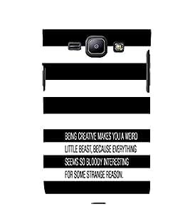 EPICCASE Being Creative Mobile Back Case Cover For Samsung Galaxy J1 (Designer Case)