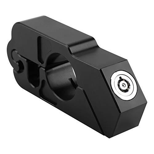 Motorrad Bremsschloss, Lenker Sicherheitsschloss Universal CNC Aluminiumlegierung Motorrad Lenker Bremshebel Schloss Fahrzeugsicherheit (Black) -