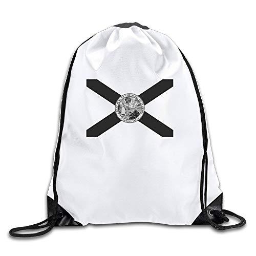 ZHIZIQIU Florida State Flag Cool Drawstring Backpack Drawstring Bag