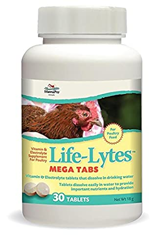 Manna Pro Life-Lytes Mega Tabs Supplement For Poultry Healthy Vitamin 30 Tabs