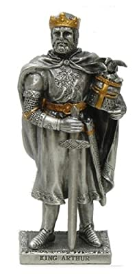 Pewter King Arthur Metal Knight With Gold Accents