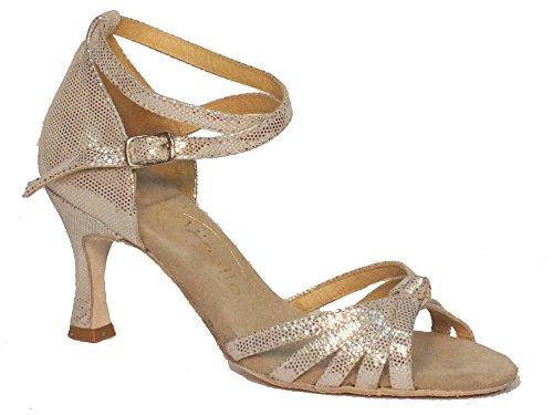 Vitiello Dance Shoes  Sandalo l.a incrociato argento, Chaussons de danse pour femme Argent Argento Argent - Satinato Argento