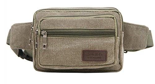 ZYT Jahrgang Leinwand Taschen durch Männer und Frauen Geldbeutel Mode Mehrzweck rucksack army green